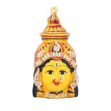 Yellow Lakshmi Face Stone 7.5 Inch - 9944