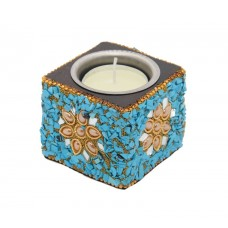 Wooden Square Tealight