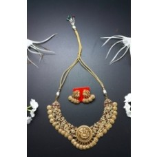 Peacock Pendant Necklace With Ear Ring