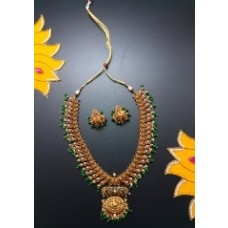 Mango Pattern Necklace With Ear Ring